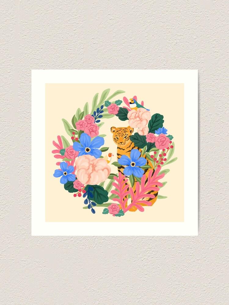Alternate view of Botanical Tiger Art Print