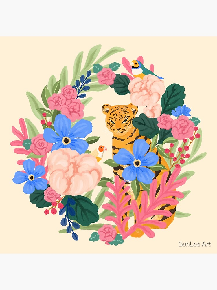 Botanical Tiger by sunleeart