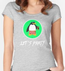 Let's Party Penguin Women's Fitted Scoop T-Shirt