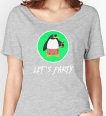 Let's Party Penguin Women's Relaxed Fit T-Shirt