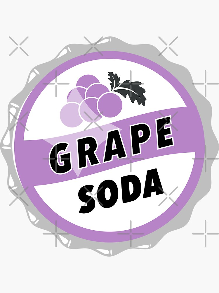Grape Soda : UP Bottle Cap by KylieBeth