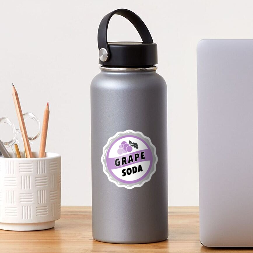 Grape Soda : UP Bottle Cap Sticker