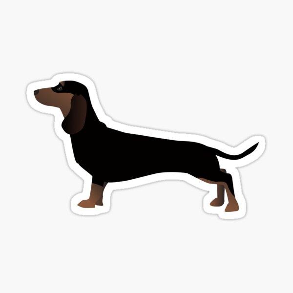 Dachshund Dog Basic Breed Silhouette Sticker