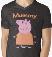 Mummy Pig Men's V-Neck T-Shirt