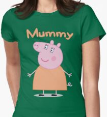 Mummy Pig Women's Fitted T-Shirt