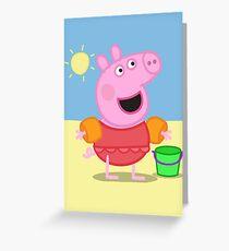 peppa 2 Greeting Card