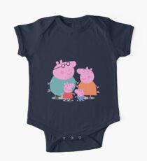 Peppa Family One Piece - Short Sleeve