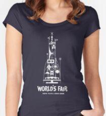 64/65 World's Fair - Tower of the Four Winds Women's Fitted Scoop T-Shirt