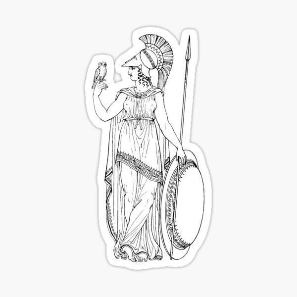 ANCIENT GREECE ATHENA Sticker
