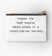 thomas the tank engine takes place in a totalitarian society Studio Pouch