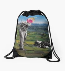 Back to the ground Drawstring Bag