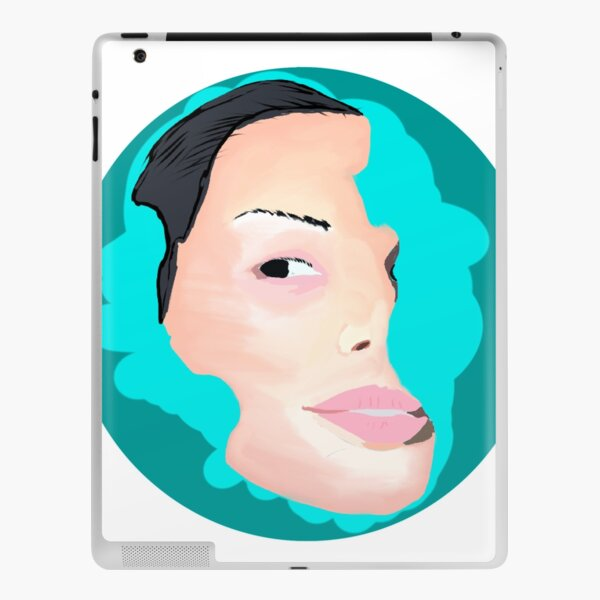 Moody face a girl in face painting iPad Skin