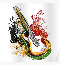 Electric guitar. Poster