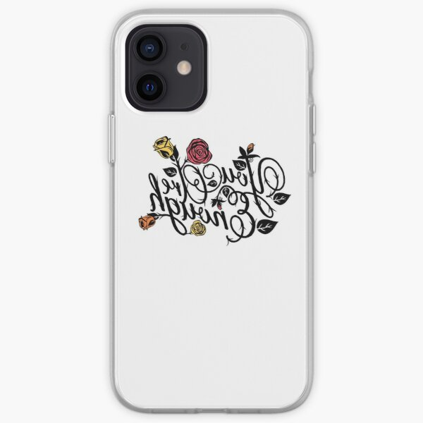 "Roses & Thorns ""You Are Enough"" Reverse Mirror/Reflection Message  iPhone Soft Case"