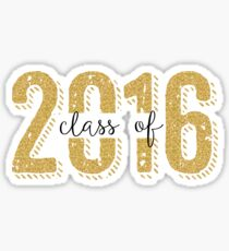 Class Of 2016 Modern Glitter Text Design Sticker