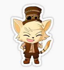 Steampunk Gentleman Cat Sticker