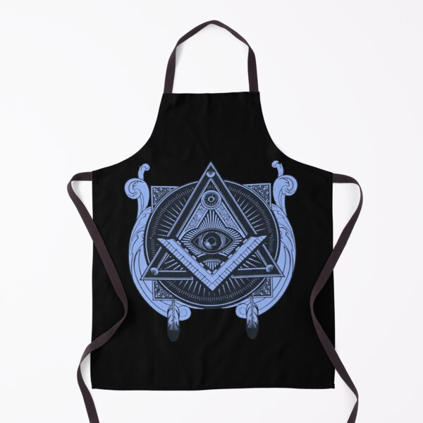 All Seeing Eye with Masonic Square and Compass Apron