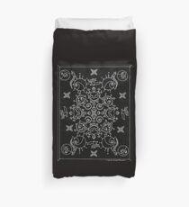 Black and White Nightmare Before Christmas Mandala Duvet Cover