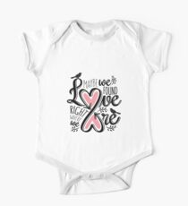 Love is Right Where We Are : Pink One Piece - Short Sleeve