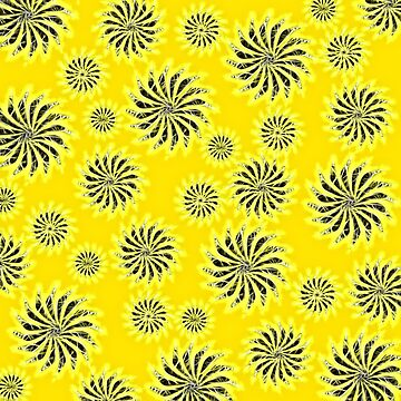 Abstract Spinning Stars Yellow Pattern by piciareiss