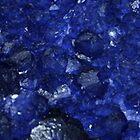Calming Blue Sapphire Crystal Burst Contemporary Design by RebeccaSu