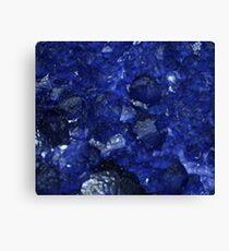 Calming Blue Sapphire Crystal Burst Contemporary Design Canvas Print