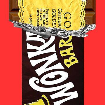Wonka Chocolate Bar Golden Ticket by dezing