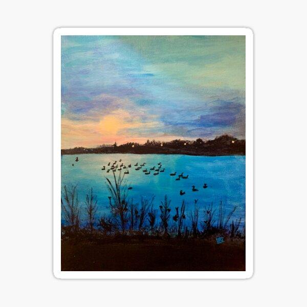 Jamie's Sunset over Lake Artemesia Sticker