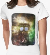 Fantasy Fog Blue Box Womens Fitted T-Shirt