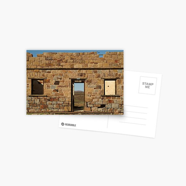 Joe Mortelliti Gallery - North Peake Ruins, Old Ghan Railway, South Australia.  Postcard