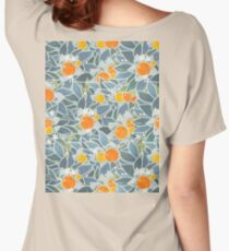 oranges and leaves vintage pattern Women's Relaxed Fit T-Shirt