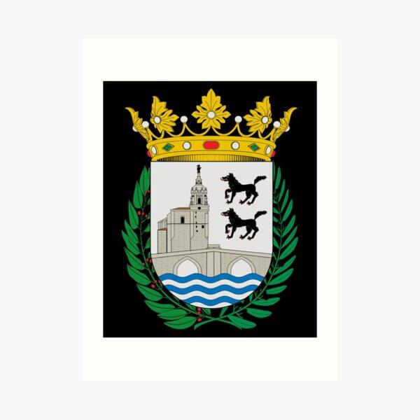 Escudo de armas de la bandera de Bilbao Lámina artística