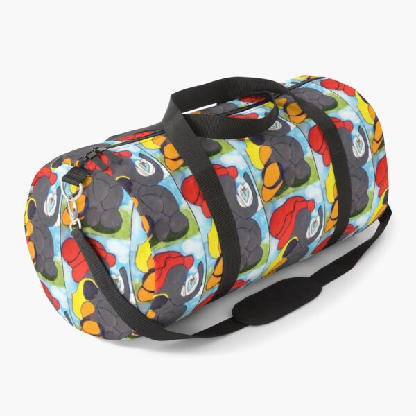 Lost Love (Elephant, Lady and swans) Duffle Bag