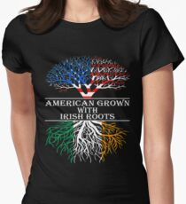 American Grown With Irish Roots Women's Fitted T-Shirt
