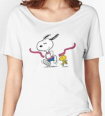 snoopy-running Women's Relaxed Fit T-Shirt