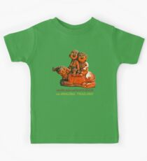 Laughing children and the water buffalo Kids Tee