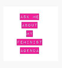 Feminist Agenda Photographic Print