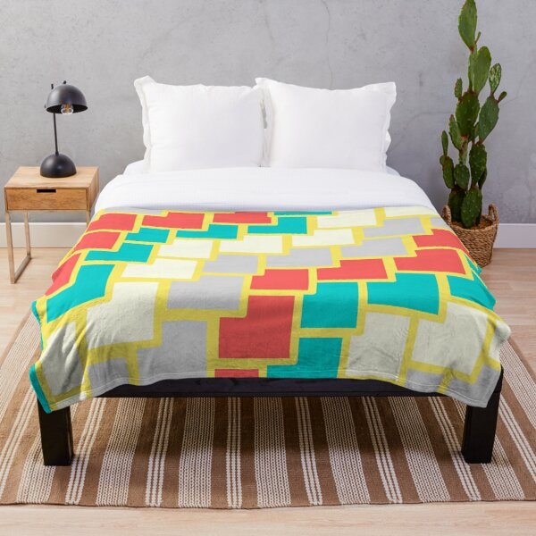 colored squares Throw Blanket