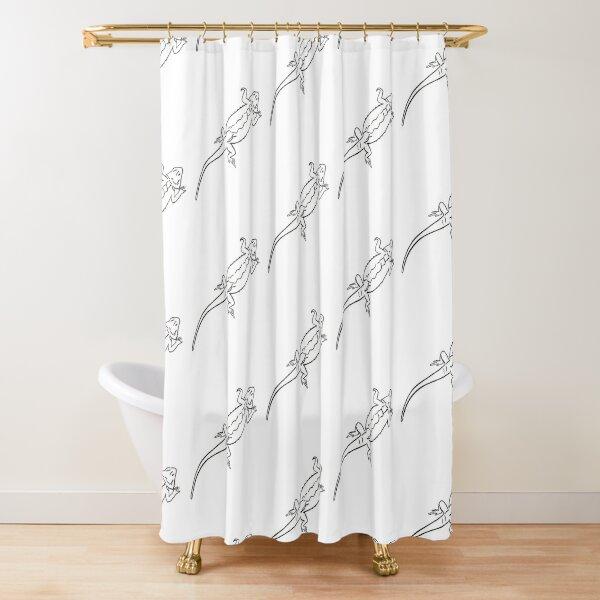 Bearded Dragon Hand-drawn Shower Curtain