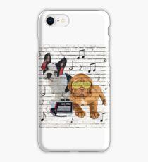 Musical Notes French Bulldog & Dogue De Bordeaux iPhone Case/Skin