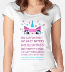 Rules By Princess Unikitty (UK Version) Women's Fitted Scoop T-Shirt