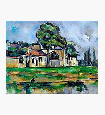 1888 - Paul Cezanne - Banks of the Marne Photographic Print