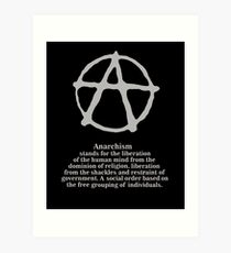 Anarchy. Art Print