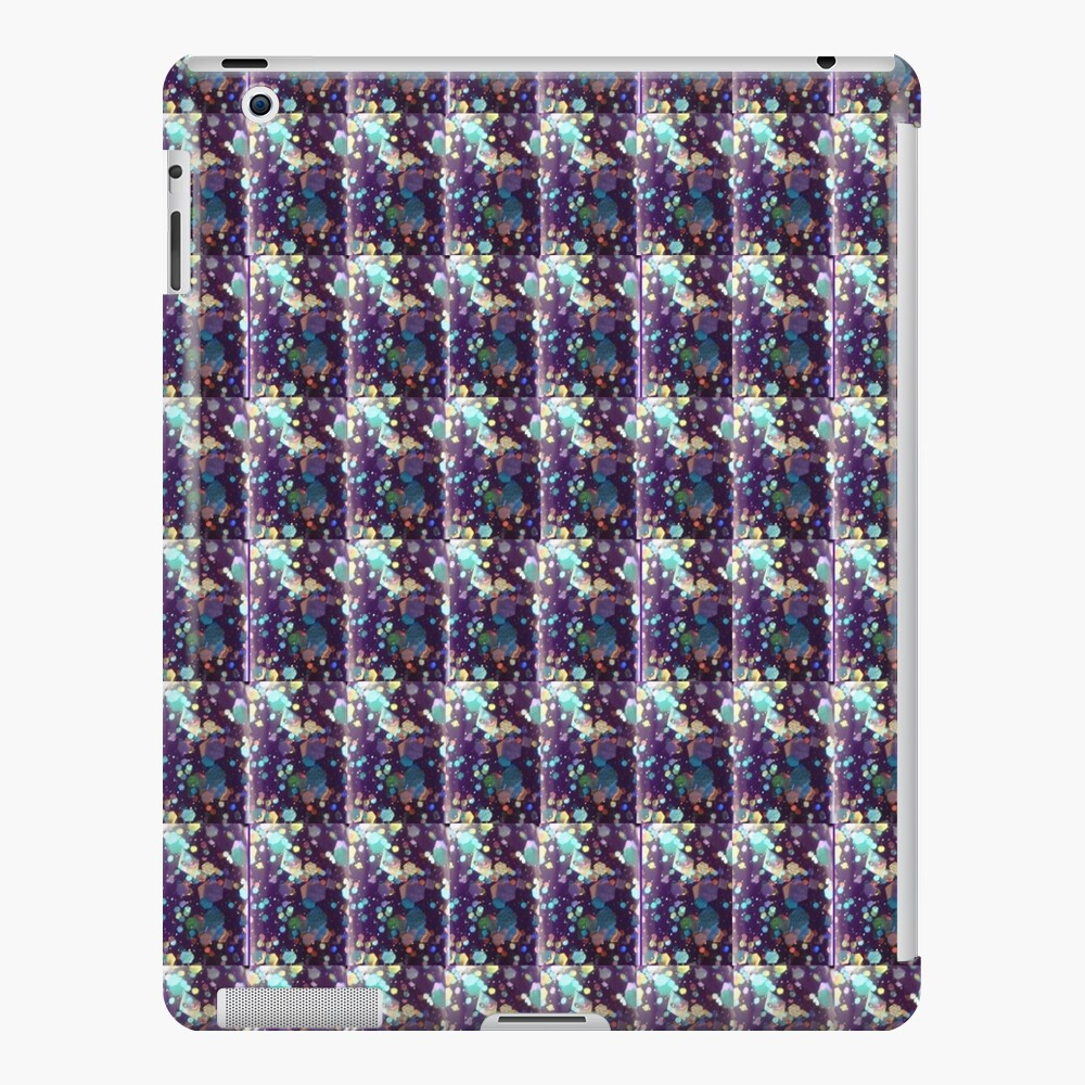 Royal Purple, blue and yellow green specks  iPad Case & Skin