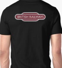 BRITISH RAILWAYS, RAILWAY,  BR, Enthusiast, SIGN, Flying Sausage, format, Train Spotter T-Shirt