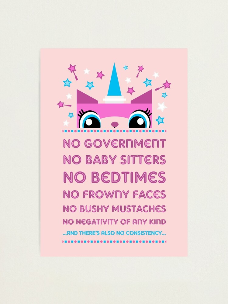 Alternate view of  Rules By Princess Unikitty (USA Version) Photographic Print