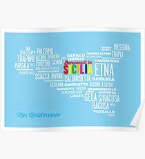 Benvenuti in Sicilia! Welcome to Sicily! Poster