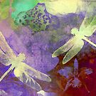 Light Green Dragonflies by Vitta