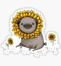 Mopsblume Sticker