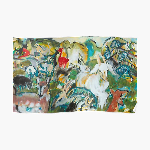 Goats and Guineas Poster